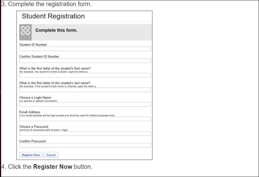School Loop form to sign up for new account