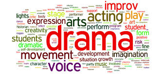 Drama - collage of words